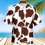 Cattle Hawaii Shirt Brown BROWN CATTLE OCEAN HAWAIIAN SHIRT WHITE 1