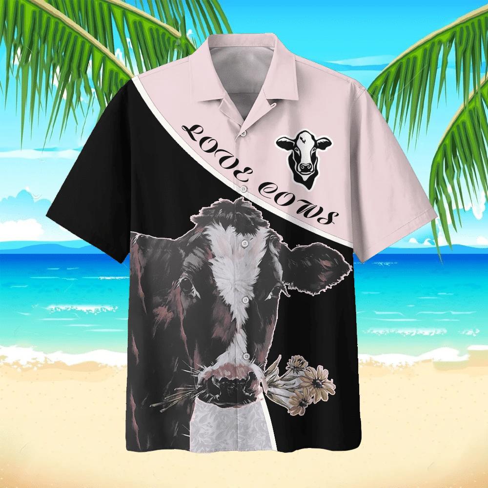 Cow Hawaiian Beach Shirt 10