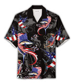 Us flag Fish style Fishing Hawaii Shirt