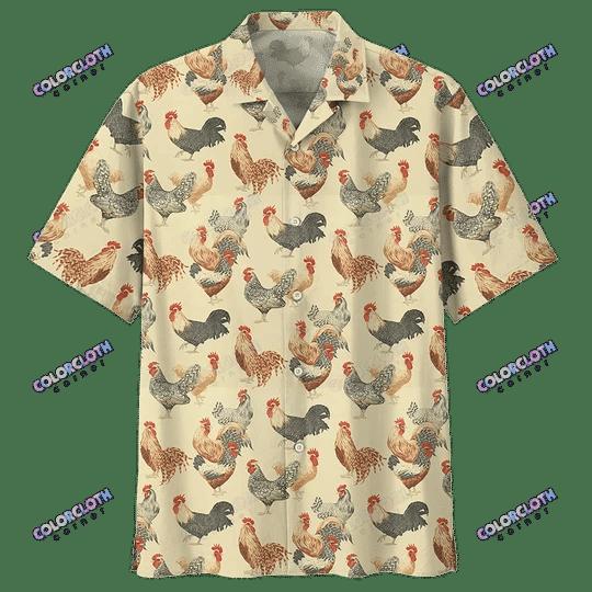 Chicken Hawaiian Shirt For Farmer TY028006