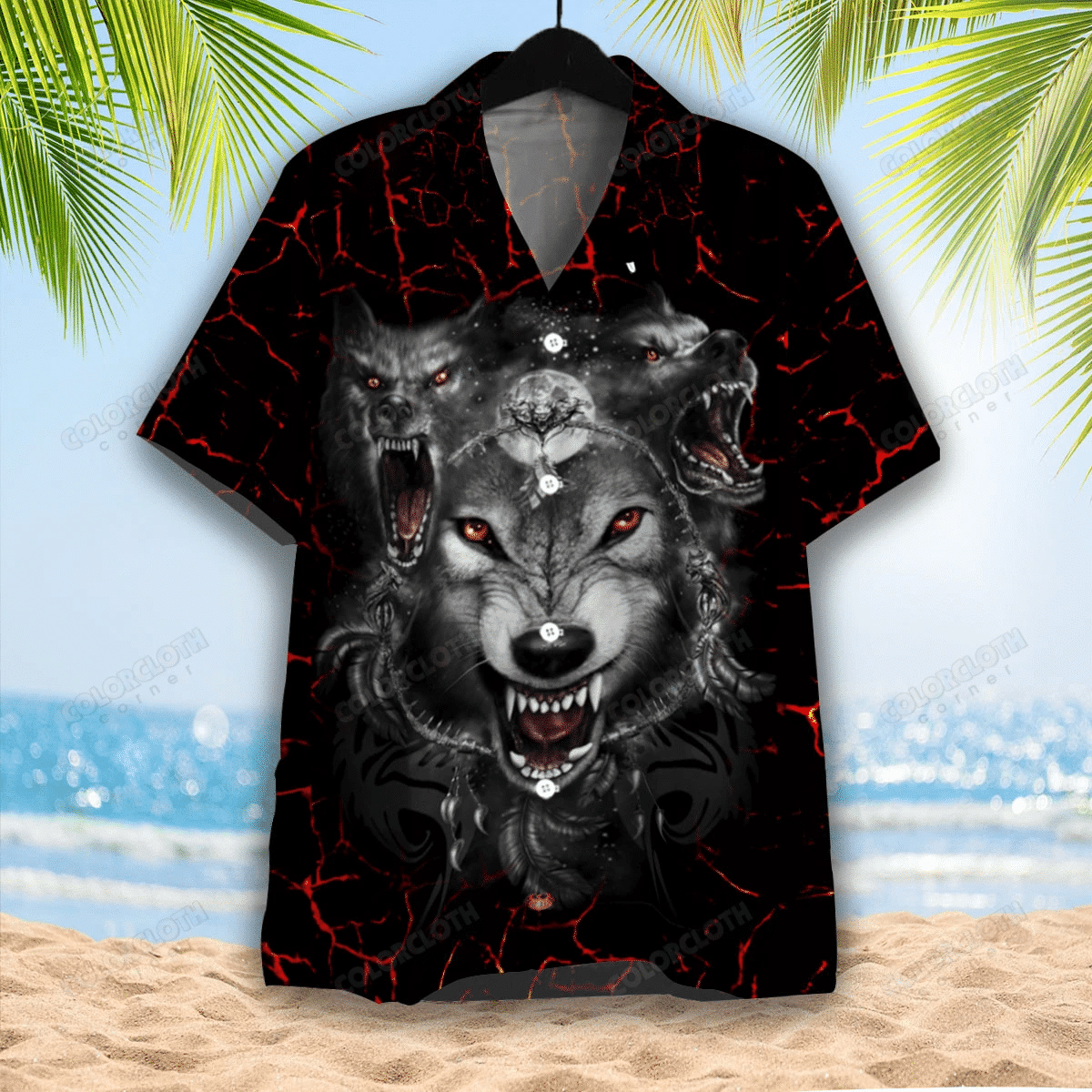 Dark Wolf Hawaiian Shirt TV055885