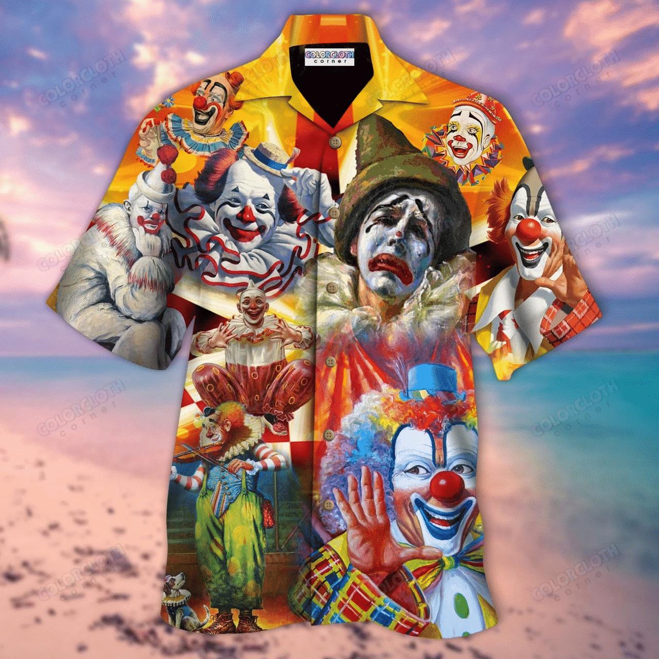 Clowns Smile Now Cry Later Unisex Hawaiian Shirt TY294107