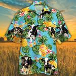 Holstein Friesian Cattle Lovers Pineapple Hawaiian Shirt