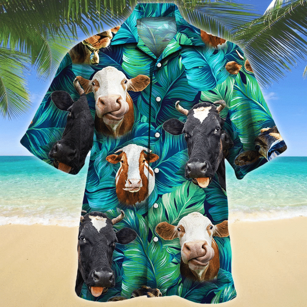 Cow Lovers Gift Hawaii Shirt