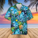 Octopus Hawaiian Beach Shirt 04