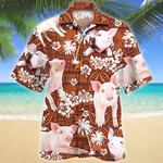 Pig Red Tribal Pattern Hawaii Shirt