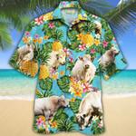Men Charolais Cattle Hawaii Shirt White Charolais Cattle Lovers Pineapple Hawaiian Shirt Charolais Cattle Lovers HAWAIIAN SHIRT