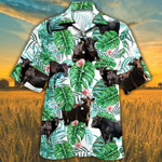 MEN BLACK ANGUS CATTLE LOVERS TROPICAL PLANT HAWAIIAN SHIRT 3 Black Angus Hawaii Shirt CATTLE LOVERS HAWAIIAN SHIRT
