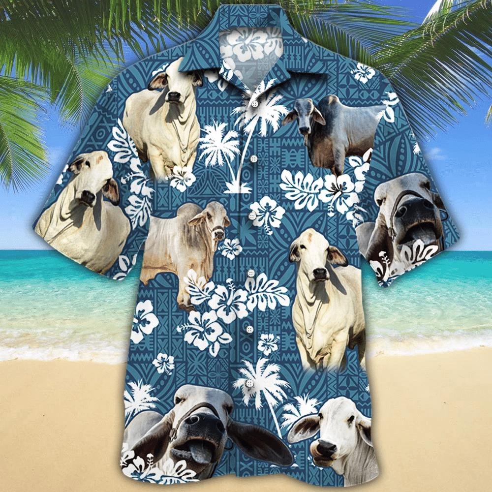 Brahman Cattle Shirt Brahman Cow Hawaii Shirt BRAHMAN CATTLE LOVERS HAWAIIAN SHIRT 557488
