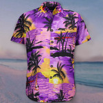 Coconut Tree Funky Hawaii Shirt Purple Hawaiian Shirt Best Beach Gifts For Girlfriend