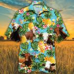 Simmental Cattle Lovers Pineapple Hawaiian Shirt