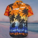 Orange Hawaiian Shirt Cool Coconut Tropical Beach Wear Shirt For Men Gift