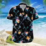 Win The Face-off Lacrosse Black Tropical Unisex Hawaiian Shirts - Beach Shorts