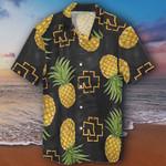Pineapple Hawaiian Shirt Mens Black Pineapple Aloha Shirt Pattern