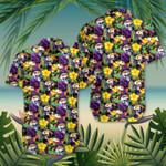 Tropical Purple Hibiscus Skull Hawaiian Shirt Beach Shirt For Women Summer Gift Ideas