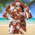 Miniature Horse Red Tribal Pattern Hawaii Shirt