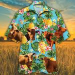 Beefmaster Cattle Lovers Pineapple Hawaiian Shirt