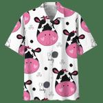 Women Cow Hawaii Shirt Pink Women Farmer Shirt COW HAWAIIAN SHIRT 5