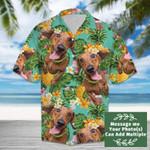 Tropical Pineapple Dachshund Hawaiian Shirt