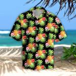 Pineapples Hibiscus Tropical Hawaii Shirt