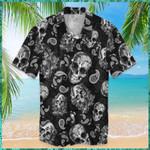 Skull Bandana Pattern Halloween Hawaiian Aloha Shirts KV