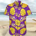 LSU Tigers Hawaii Shirt Purple Hawaiian Shirt Gift For Summer
