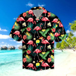 Flamingo Hibiscus Tropical Hawaii Shirt