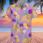Taco Bell Hawaiian Shirt Pineapple Hibiscus Tropical Print Aloha Shirt Gift For Men