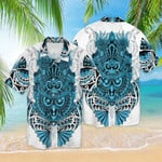 Blue Aloha Hawaii Shirt HT150611