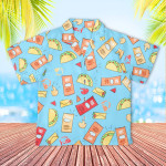 Taco Bell Kids Hawaiian Shirt Child Hawaiian Outfit For Boys Button Up Aloha Shirt
