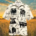 Men Cattle Hawaii Shirt White Cattle on farm lovers HAWAIIAN SHIRT