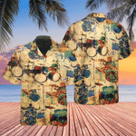 Colorful Vintage Drum Hawaiian Shirt TV055822