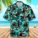 MEN BLACK ANGUS CATTLE FUN ROSEMARY BEACH SHIRTS Black Angus Hawaii Shirt CATTLE LOVERS HAWAIIAN SHIRT