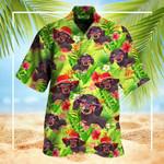 Dachshund Tropical Leaves Hawaiian Shirt 2