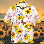 Pig Lovers Sun Flower Hawaiian Shirt