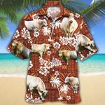Men Charolais Cattle Hawaii Shirt Red Charolais Cattle Lovers Red Tribal HAWAIIAN SHIRT Charolais Cattle Lovers HAWAIIAN SHIRT