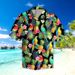 Parrots pineapples Hibiscus Tropical Hawaii Shirt