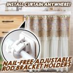 ⭐️Nail-Free Adjustable Rod Bracket Holders