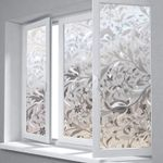 New Tulip Flower 3D Static Cling Privacy Etched Glass Window Film Drop