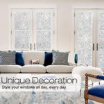 ✅ New Tulip Flower 3D Static Cling Privacy Etched Glass Window Film Drop