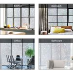 💥 New Tulip Flower 3D Static Cling Privacy Etched Glass Window Film Drop