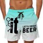 Let's Drink Beer - Custom Swim Trunks