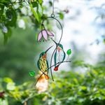 (Mothers Day Sale-50%Off)💝Hummingbird Stained Glass Window Hangings