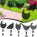 ✨ Decorative Garden Hens