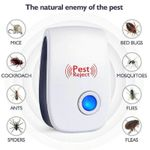 ✨Electronic Ultrasonic Pest Reject Mosquito Cockroach Mouse Killer Repeller