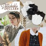 ❤️ Stylish Blouse Detachable Lace Collar