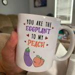Eggplant And Peach Couple Mug