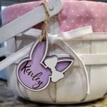 Customized Bunny Easter Basket Tags