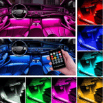 🔥 50% OFF-Car Interior Ambient Lights - (Contains 4 light bars) 🔥