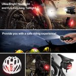 Powerful Bicycle Front Headlight and Back Taillight